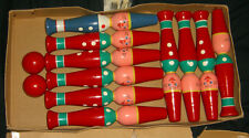 VINTAGE WOOD BOWLING GAME DISCOVERY PLAYTHINGS MADE IN W WESTERN GERMANY RARE $$