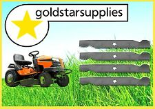 """38"""" Ride-On Mower BLADES to suit HUSQVARNA & McCULLOCH x 2 sets (4 blades)"""