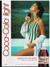Publicité Advertising 1989 Coca Cola Light