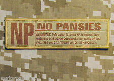 NO PANSIES RATED NP USA ARMY BADGE DESERT VELCRO® BRAND FASTENER PATCH