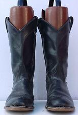 Lot-12 Womens Size 7 M Laredo Black Roper Cowboy Western Boots