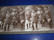 Old Stereoview photograph WW1 Fieldmarshal John French GHQ France c1914 - 1916