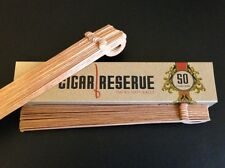 50 Spanish Cedar Wood Spills Strips for Cigars Lighting Lighter by Cigar Reserve