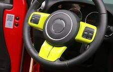 3pcs Steering Wheel Cover Trim Fit JEEP Wrangler Compass Patriot Grand Cherokee
