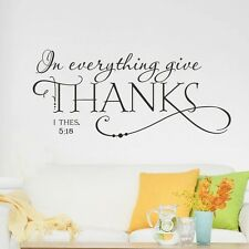 I THES In 5:18 Thanksgiving Quote Art Vinyl Wall Sticker Decals Home Room Decor