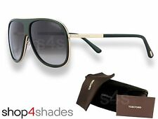 Tom Ford Chris Sunglasses DARK GREEN_ROSE GOLD_GRADUATED BROWN FT0462 98K 62mm