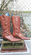 bottes cuir marrons pointure 40 marque BRONX occasion country santiags
