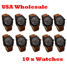 10 x Brand New Curren Watch Sport Black Dial Leather Quartz - Wholesale Lot