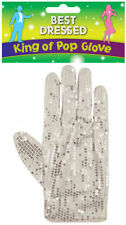 White Glove Michael Jackson Silver Sequin  Billy Jean King Of Pop Fancy Dress