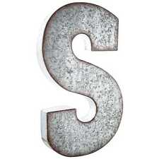 "Large 20"" Industrial Galvanized Metal Letter  WALL DECOR XXL BUSINESS LETTERS"