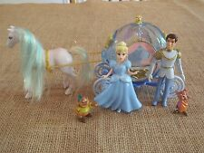 Polly Pocket Disney Princess Carriage Cinderella Prince Charming Lot M57