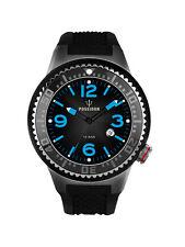 POSEIDON Unisex-Armbanduhr S Analog Silikonband UP00421 Schwarz UVP 129,- €
