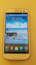 TRACFONE SAMSUNG GALAXY SIII. WHITE. GOOD ESN! WORKS! #3398