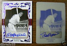 Stan Musial 2011 Leaf Legends Of Sport Autographed 1/1 Card and 1/1 Print Plate