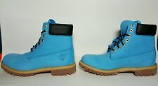 TIMBERLAND MEN'S WATERPROOF BOOTS NEW IN BOX SIZE 10 RARE OCEAN BLUE