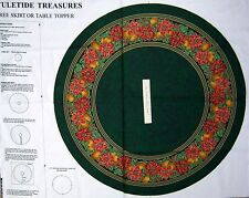 "Christmas Fabric Panel - 35"" Yuletide Treasures Tree Skirt VIP by Cranston"