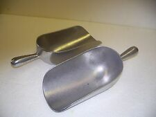 """""""HEAVY-DUTY"""" #3 CAST ALUMINUM SCOOP 2-PACK-N.O.S.-NEW-""""MADE IN U.S.A.""""!!!"""
