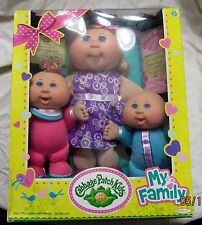 Cabbage Patch Kids Sealed My family 3 Dolls Set Exclusive Jakks Pacific Babyland