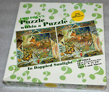 NIB In Dappled Sunlight Puzzle Within a Puzzle Jigsaw 18 Animals 100 Piece 16x11