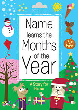 Personalised Months Of The Year Children's Book Softback Fun Educational Gift