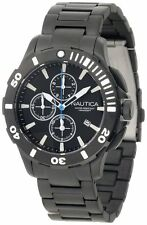 Nautica BFD 101 Black Ion Plated Chronograph Steel Men's Watch N23536G