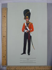 Rare Original VTG Coldstream Guard Dress in 1821 Color Illustration Art Print
