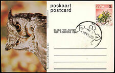 South West Africa 1976 Giant Eagle Owl Stationery Postcard #C16719