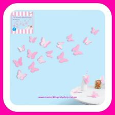 4PK/ 3D Butterflies Stickers - Pink/Party Decorations/Party Supplies