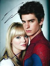 Andrew Garfield & Emma Stone signed The Amazing Spider-Man 8x10 Photo