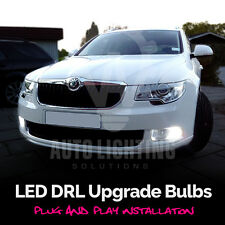 2x Skoda Octavia Fabia Superb DRL Daytime LED Xenon White Lights Bulbs *SALE*
