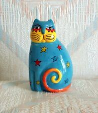 Cat Figurine Laurel Burch Stars New Ceramic Figurine Statue