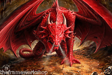 ANNE STOKES DRAGONS LAIR - 3D CULT FANTASY PICTURE POSTER 400mm x 300mm