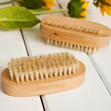 Manicure Bristle Brush Fingernail Wood Handle Nail Hand Foot Keep Nails Clean