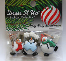 """Dress It Up - Jesse James Holiday Collection """"Roly Poly Snowmen"""" 7493"""
