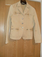 SZ 10 neutral STRETCH LIGHT JACKET WORKS WITH JEANS OR SKIRTS READY TO WEAR FAB