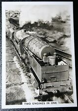 LMS Beyer Garrett  at Toton Sidings   Superb Vintage Photo Card # VGC