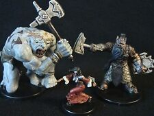 Dungeons & Dragons Miniatures Lot -  Hunched Giant & Aspect of Moradin !!