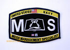 US NAVY MESS MANAGEMENT SPECIALIST MS RATING HAT PATCH PIN UP USS MESS DECK GIFT
