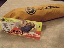 UST BASE: BUG TENT Survival Shelter, One Person Protection, Stakes, Poles, Bag