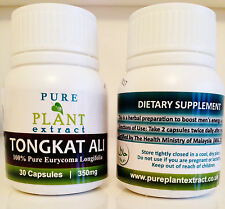 8 Bottles of TONGKAT ALI TABLETS | 240 x 350mg | 200:1 Powder Eurycoma Capsules