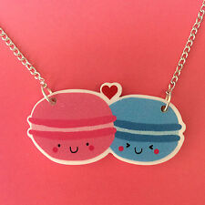 Happy Macaroon Necklace Cute Kawaii Fun Kitsch Anime Japan Quirky Jewellery