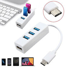 Super Speed USB 3.1 Type-C to 4 Port USB 3.0 Hub Adapter for MacBook Smart phone