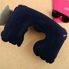 Inflatable Travel Pillow Air Cushion Neck Rest U-Shaped Compact Plane Flight DB