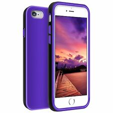 iPhone 6/6S Plus Case Front Raised Lip Back TPU Slim Cover Purple/Black
