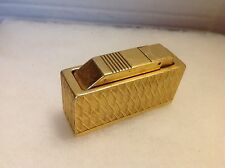 Vintage Diplomat Swiss Made Petrol Gas Gold Plated Table Lighter L@@K