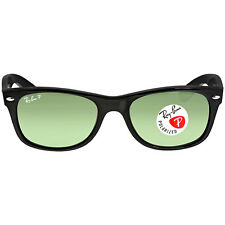 Ray-Ban New Wayfarer Black/Green 52mm Sunglasses RB2132 901