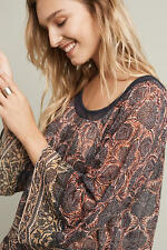 Anthropologie  Dahlia Bell-Sleeve Blouse top  NWT new size L