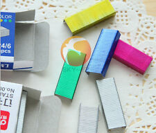 2set/lot Band New Color Colorful Staples No.12 Pink Gold Blue Green 1600pcs