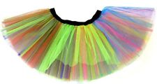 80s Fancy Dress Neon Rainbow Tutu - Adults XXL 16-26
