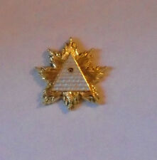 Secret Occult Society God RA Badge Gold High Priest NWO Illuminati Order Pin KT